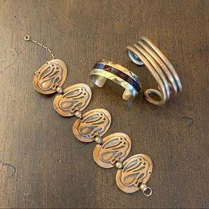 Copper Statement Bracelets